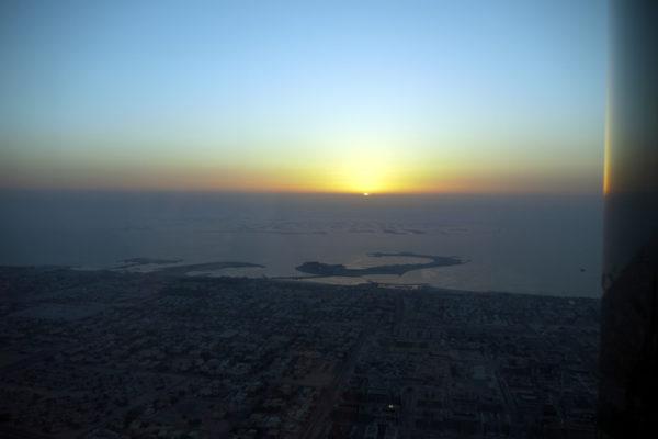At The Top Skyからの日の入りの眺め