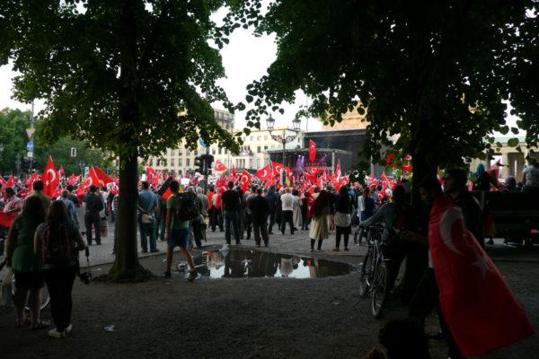 ブランデンブルク門近くのイベント風景