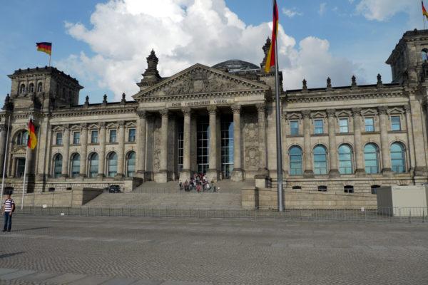 ドイツ連邦首相府。ガラスドームが有名。