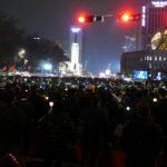 韓国、ソウル、大規模デモ(11月26日)