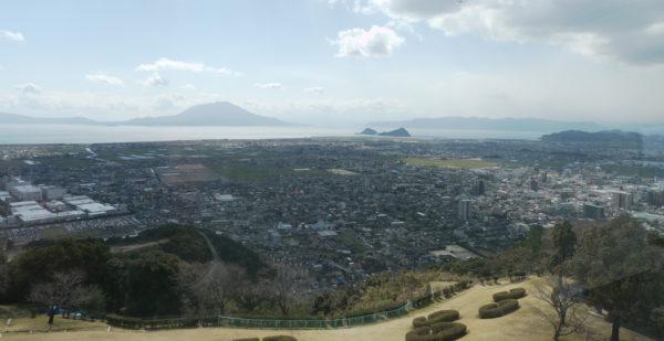 城山公園展望塔からの眺め
